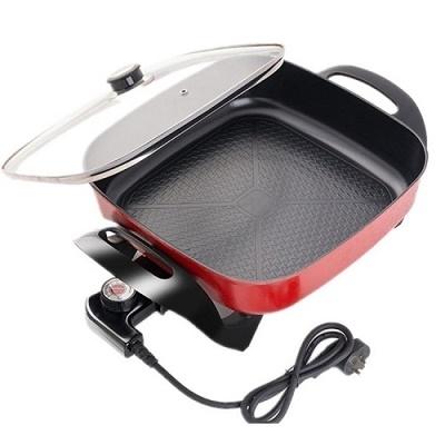Электрический гриль+сковородка с регулятором температуры