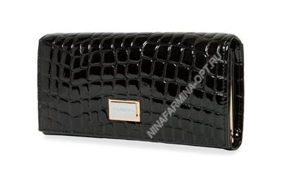 Кошелёк 9281_096 лаковая-кожа-крокодила-с-тиснением