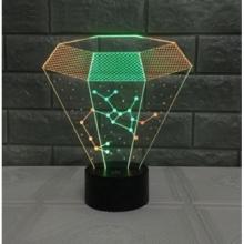 3D ночник Изумруд (3 режима) 1092