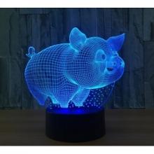 3D ночник Свинка (3 режима) 1103