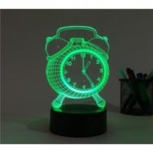 3D ночник Часы (3 режима) 1104