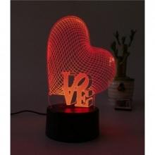 3D ночник Сердечки (3 режима) 1107