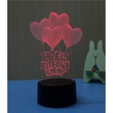 3D ночник Сердечки (3 режима) 1115