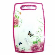 Доска разделочная (цветы и бабочки) DO-1408