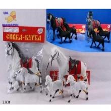 """Набор лошадок """"Сивка-бурка"""", (разные цвета) в пакете  LS-2547/2548"""