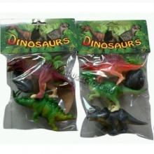 """Пластизолевые игрушки """"Dinosaurs"""" в пакете (2 вида)  GR-2-012AB"""