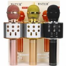 Беспроводной bluetooth-микрофон для караоке 3 в 1 портативный. WS 858