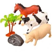 "Пластизолевые игрушки ""Farm animals"" в пакете (2 вида)  GR-2-012AB-1"