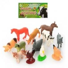 """Пластизолевые игрушки """"Farm animals"""" в пакете  GR-2-012-1"""