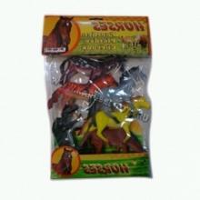 "Пластизолевые игрушки ""Horses"" в пакете  GR-7-006B"