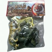 "Пластизолевые игрушки ""Wild animals"" в пакете  GR-S7-004A"