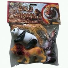 "Пластизолевые игрушки ""Wild animals"" в пакете  GR-S7-004B"