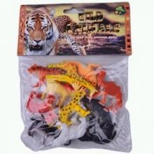 """Пластизолевые игрушки """"Wild animals"""" в пакете  GR-S2-012"""