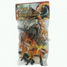 """Пластизолевые игрушки """"Wild animals"""" в пакете  GR-S5-012"""