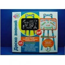 Доска на подставке (русская упак., магн. буквы, цифры, мелки, губка), в коробке DS-009-2012A