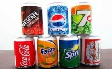 Колонка в виде банки Coca-Cola, Fanta, Pepsi, Sprite  KL-234