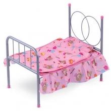 Кроватка для кукол (металл), в пакете  KR-981