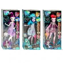 Кукла шарнирная с аксессуарами (4 вида,светятся в темноте), в коробке  KK-2080
