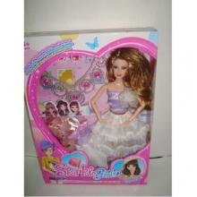 Набор кукла с платьями и  аксессуарами в коробке  KK-1388-10