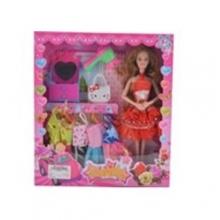 Набор кукла с платьями и  аксессуарами в коробке  KK-158-7