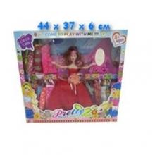Набор кукла с платьями и  аксессуарами в коробке  KK-263E-20