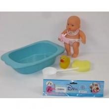 Пупс в ванночке с аксессуарами, в пакете  KK-0912C-9