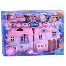 """Вилла """"Castle"""", (фигурки, мебель, с аксессуарами, на батарейках) в коробке  VL-8062"""