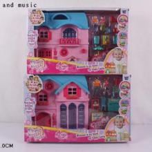 """Домик """"Happy House"""" на батарейках, с аксессуарами, в коробке  DM-1162AB"""