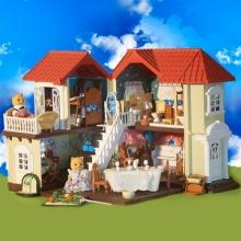 Семейный особняк (фигурки, мебель, аксессуары) в коробке, русская упаковка  SM-012-01.
