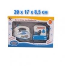 Набор утюг и швейная машинка на батарейках (свет, звук), в коробке  NB-3565