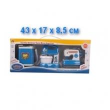 Набор швейная машинка, миксер и стиральная машинка на батарейках (свет, звук), в коробке  NB-3735