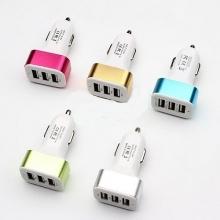 Авто зарядка 3 USB, 1A+2A+2,1A (A30)  ZR-392