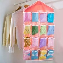Органайзер для хранения нижнего белья и носков на 16 кармашков. Candy color wardrobe wall mounted