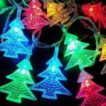 Гирлянда елочки цветные 21 лампочка