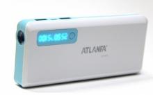 Портативное зарядное устройство Power Bank AT-D2032+2USB+фонарик+индикатор 12000 mAh  ZR-504