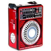 Радиоприемник HAIRUN+USB+аккумулятор+фонарик KR-8318 RD-584