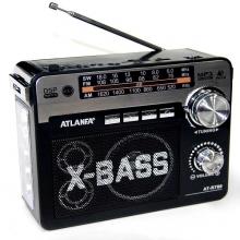 Радиоприемник ATLANFA от сети с аккум., с USB,SD,FM, фонариком и 1-динамиком AT-R780 RD-587