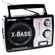 Радиоприемник ATLANFA от сети с аккум., с USB,SD,FM, фонариком и 1-динамиком AT-R785 RD-589