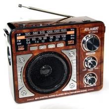 Радиоприемник ATLANFA от сети с аккум., с USB,SD,FM, фонариком и 1-динамиком AT-R872 RD-591