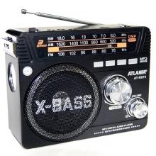 Радиоприемник ATLANFA от сети с аккум., с USB,SD,FM, фонариком и 1-динамиком AT-R873 RD-592