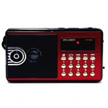 Радиоприемник ATLANFA с USB+SD+FM+фонарик, 1-динамик AT-R20 RD-593