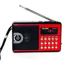 Радиоприемник ATLANFA с USB+SD+FM+дисплей+фонарик, 1-динамик AT-R21U RD-594