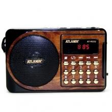 Радиоприемник ATLANFA с USB+SD+FM+дисплей+фонарик, 1-динамик AT-R22U RD-595