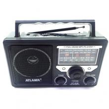 Радиоприемники с USB+SD с аккумулятором+от сети+дислей с выходом на микрофон, 1 динамик  AT-816 RD-596