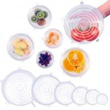 Универсальные силиконовые натяжные крышки для посуды 6 шт. Silicone Caps