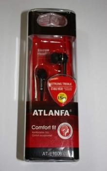 Наушники вакуумные в пластик.упаковке ATLANFA AT-1008 NS-722