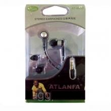 Наушники вакуумные в пластик.упаковке ATLANFA AT-1017 NS-725