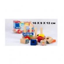 Машина-пирамидка из дерева, 16X9X12см  MS-0809