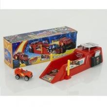 Машинка с запуском (свет, музыка), в коробке  MS-828-50S