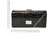 Кошелёк 9287_096 лаковая-кожа-крокодила-с-тиснением